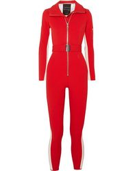 CORDOVA Striped Stretch Ski Suit - Red
