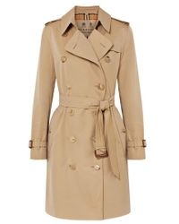 Burberry The Kensington Trenchcoat Aus Baumwollgabardine - Natur