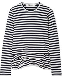 Comme des Garçons - Ruffled Striped Cotton-jersey Top - Lyst