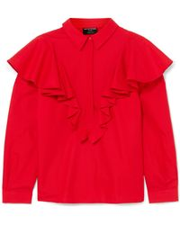 Mother Of Pearl - Ruffled Cotton Blouse - Lyst