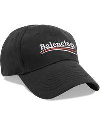 Balenciaga - Embroidered Cotton-twill Baseball Cap - Lyst