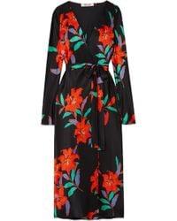 Diane von Furstenberg - Tilly Floral-print Silk Crepe De Chine Wrap Dress - Lyst