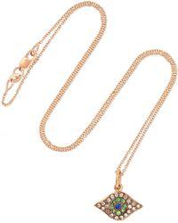 Ileana Makri - Kitten Eye 18-karat Rose Gold Multi-stone Necklace - Lyst