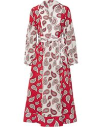 Dodo Bar Or - Printed Silk-crêpe Dress - Lyst