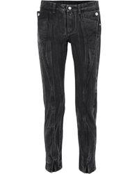 Givenchy - Halbhohe Jeans Mit Schmalem Bein In Distressed-optik - Lyst