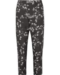 Ann Demeulemeester - Floral-print Crepe De Chine Slim-leg Pants - Lyst