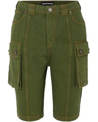 House of Holland Denim Cargo Shorts - Green