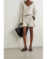 By Malene Birger Cicuta Ribbed-knit Sweater - Natural