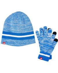 New Balance Beanie And Gloves Gift Set - Blue