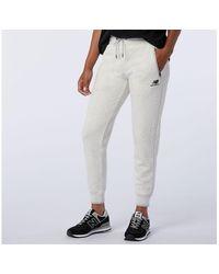 New Balance Women's Nb Athletics Village Fleece Pant - White