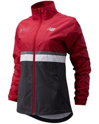 New Balance Mujer London Marathon Jacket - Rojo