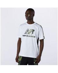 New Balance NB Essential Camo Tee - Blanco