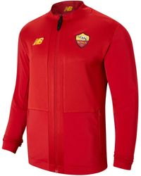 New Balance - As Roma Pre-game Jacket - Lyst