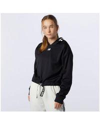 New Balance Damen Relentless Performance Fleece Layer - Schwarz