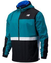 New Balance R.w.t. Lightweight Woven Jacket - Blue