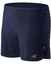 New Balance - Herren Impact Run 5 Inch Shorts - Lyst
