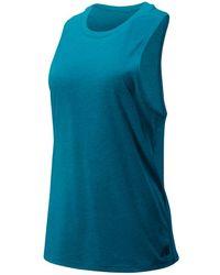 New Balance Damen Relentless Tank - Blau