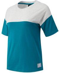 New Balance Nb Athletics Terrain Blocked T-shirt - Blue