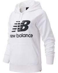 New Balance Nb Essentials Pullover Hoodie - White