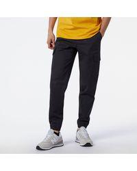 New Balance Nb Athletics Woven Cargo Pant - Black