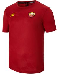 New Balance - As Roma Pre-game Jersey - Lyst