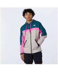New Balance Herren R.W.T. Lightweight Woven Jacket - Blau
