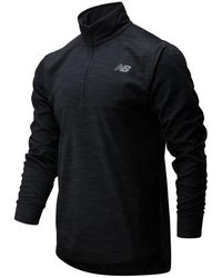 New Balance 01088 Tenacity Quarter Zip - Black