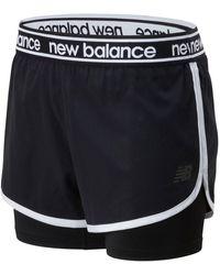 New Balance Relentless 2 In 1 Short - Black
