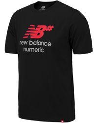 New Balance Nb Numeric Logo Stacked Tee - Black