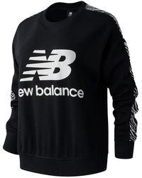 New Balance Nb Athletics Animal Print Crew - Black