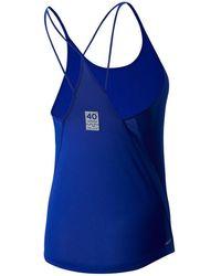New Balance Damen London Marathon Impact Run Tank - Blau