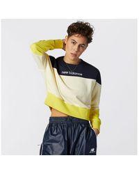 New Balance Nb Athletics Crew Fleece - Yellow