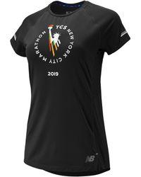 New Balance - Nyc Marathon Nb Ice 2.0 Short Sleeve - Lyst