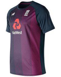 New Balance Balance England Cricket Crew Neck T Shirt S - Multicolour