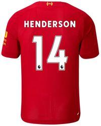 New Balance Liverpool FC Kurzarm Heimtrikot Henderson No EPL Patch - Rot