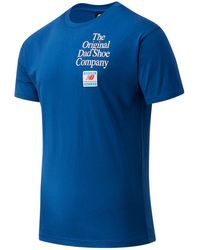 New Balance Hombres Camiseta NB Essentials Dad Pack - Azul