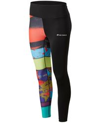 New Balance Donna Leggings Sport Style Reeder Printed - Nero