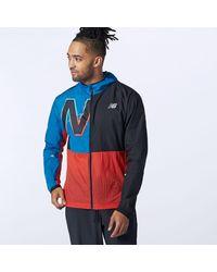 New Balance Printed Impact Run Light Pack Jacket - Blue