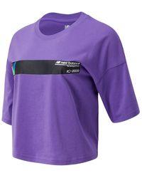 New Balance Sport Style Optiks Short Sleeve Tee - Purple