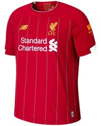 New Balance Liverpool FC Home SS Jersey No EPL Patch - Rouge