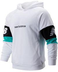 New Balance Nb Athletics Classic Hoodie - White