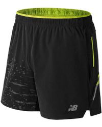 New Balance - Printed Impact 5 Inch Short - Lyst