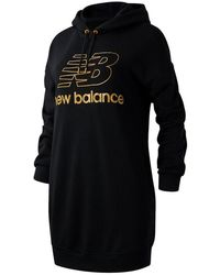 New Balance Nb Athletics Village Hoodie Dress - Black