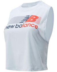 New Balance Damen Relentless Crop Novelty Tank - Blau