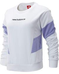 New Balance New Balance Nb Athletics Classic Fleece Top - White