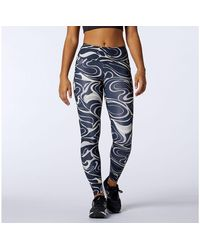 New Balance Damen Printed Impact Run Tight - Blau