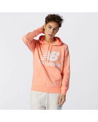 New Balance Nb Essentials Pullover Hoodie - Pink