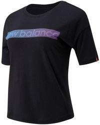 New Balance 01538 Essentials Tokyo Nights Boxy Tee - Black