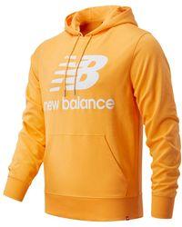 New Balance Herren NB Essentials Stacked Logo Po Hoodie - Orange