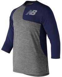 New Balance Asym 2.0 Left Shirt 3/4 Sleeve - Blue